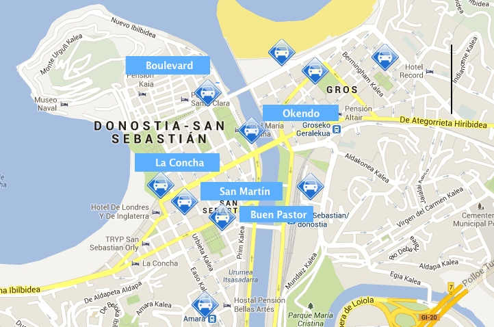 Where to park in San Sebastian