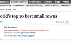 San Sebastián en el Sydney Morning Herald