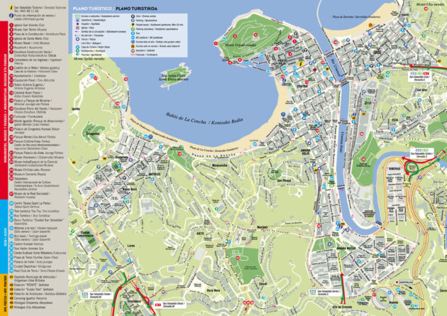 st sebastian spain map San Sebastian Map Interactive Map Of San Sebastian Donostia