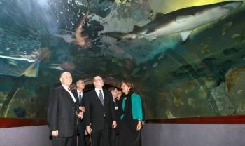 Alberto de Mónaco en el Aquarium de San Sebastián
