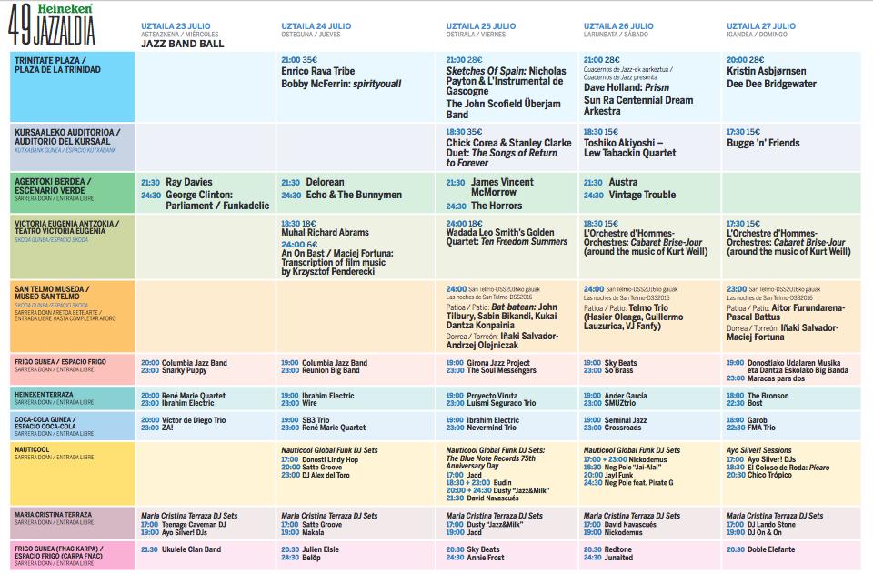 Programación festival