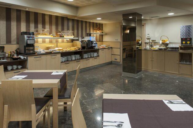 Sala de desayuno del hotel